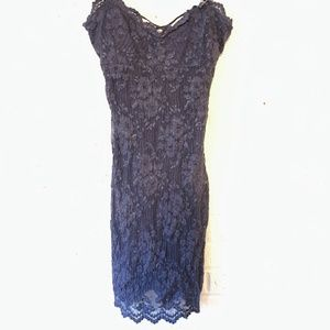 Free People Blue Lace Mini Dress